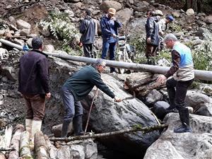 خسارت هنگفت سیل به تاسیسات آبرسانی ۲۱۵ روستای مازندران در آخرین روزهای ۹۷