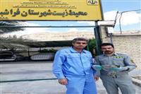 نجات پرنده شکاری قرقی توسط حامی حیات وحش در فراشبند فارس