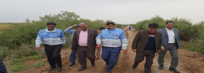 بازدید مدیر کل مدیریت بحران استان از روستاهای در معرض خطر