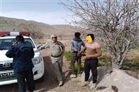 دستگیری دونفر متخلف وارد شده به حریم سایت گوزن زرد در ارسنجان فارس