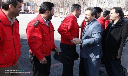 بازدید نوروزی شهردار تبریز از سازمان آتش نشانی و خدمات ایمنی