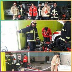 آماده سازی پمپ های پرتابل تخلیه آب توسط سازمان آتش نشانی و خدمات ایمنی برای مقابله با بارندگی های در پیش رو