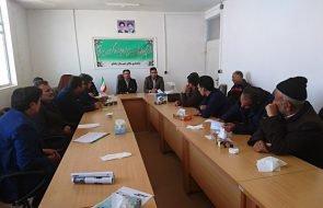 برگزاری جلسه بررسی مشکلات آب شرب روستاهای مجتمع خیبر شهرستان جغتای