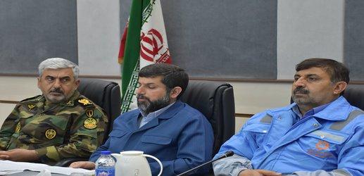 نشست ویدیو کنفرانس استاندار و مدیر کل مدیریت بحران خوزستان با رییس جمهور