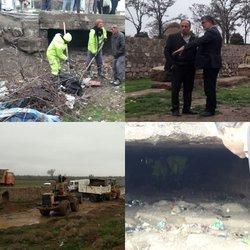 حضور مسئولین شهرداری تاکستان در اجرای عملیات پیشگیرانه قبل از وقوع بحران و سیل
