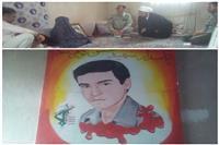 سرکشی  پرسنل اداره حفاظت محیط زیست شهرستان خوسف از خانواده شهید