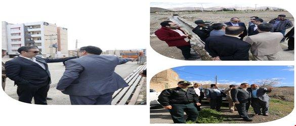بازدید استاندار از اقدامات مدیریت بحران شهرستان محلات در راستای هدایت آبهای سطحی