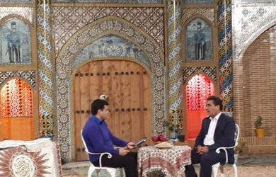 حضور شهردار دامغان در برنامه زنده تلویزیونی به وقت عید