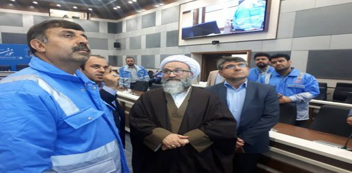 بازدید ایت الله حیدری از مرکز مانیتورینگ  مدیریت بحران خوزستان