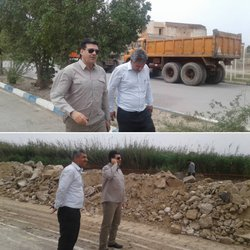 بازدید میدانی شهردار خرمشهر از روند عملیات اجرایی احداث سیل بندها