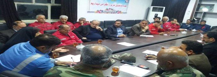 جلسه اضطراری شورای هماهنگی مدیریت بحران در شهرستان کارون برگزار شد