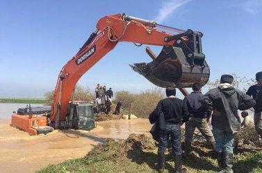 ترمیم نقاط ۱۰ گانه شکافتهشده رودخانه گرگانرود در شهرستان گمیشان