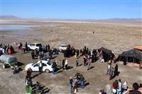 بیش از ۵۰۰۰ نفر از مسافران نوروزی و علاقمندان به طبیعت از تالاب کجی نمکزار نهبندان در خراسان جنوبی بازدید کردند