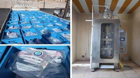 اعزام آب بسته بندی به مناطق سیل زده استان لرستان