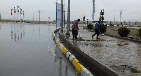 آبگرفتگی های ناشی از بارش دیشب در کلیه خیابانهای شهر برطرف شد