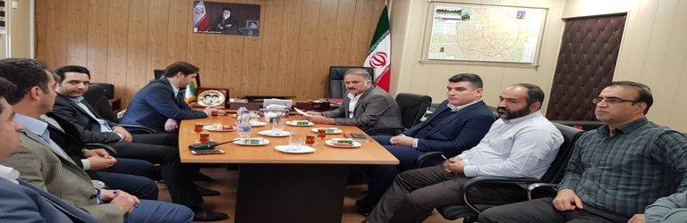 گزارش تصویری  دیدار ریاست محترم شورای شهر رشت با مدیر و جمعی از پرسنل منطقه دو شهرداری رشت