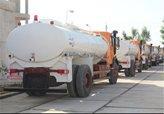 آبرسانی به مردم در گوریه خوزستان با تانکر در حال انجام است