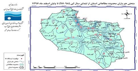 گزارش تحلیل بارندگی در اسفند ماه ۱۳۹۷