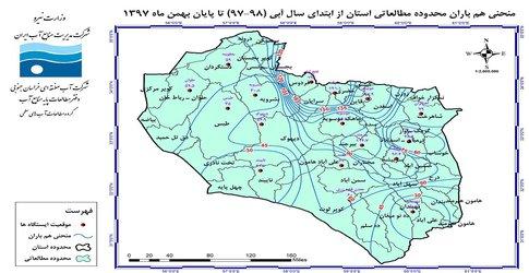 گزارش تحلیل بارندگی در بهمن ماه ۱۳۹۷