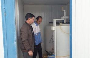 بازدید کارشناس شبکه بهداشت و درمان زاوه از تاسیسات کلرزنی  بخش مرکزی و سلیمان