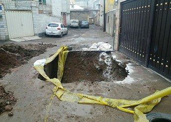 ۱۰ مورد نشست زمین در محلات مختلف منطقه یک شهرداری قزوین مرمت شد