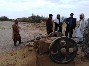 بازدید مدیر امور منابع آب فهرج از روستای جلال آباد این شهرستان