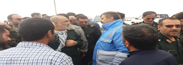 بازدید مدیر کل مدیریت بحران استانداری خوزستان اط مناطق در معرض خطر اهواز
