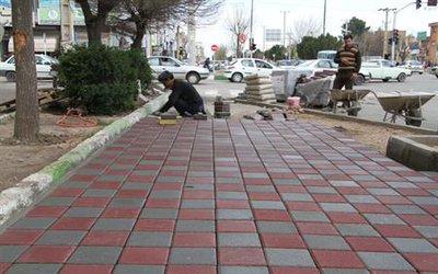 مناسب سازی چهارراه ۲۲ بهمن آغاز گردید. (گزارش تصویری)