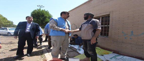 بازدید معاون وزیر کشور و مدیرکل مدیریت بحران خوزستان از آخرین وضعیت کانال سلمان