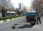 مرمت و لکه گیری آسفالت خیابان شهید بهشتی و استادان