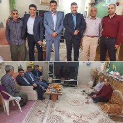 دیدار داود دارابی شهردار خرمشهر با جانباز سرافراز دوران هشت سال دفاع مقدس