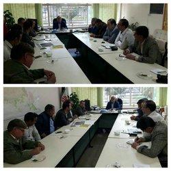 نشست اعضاء ستاد بحران شهرداری به ریاست مهندس مهدلو شهردار زرند.