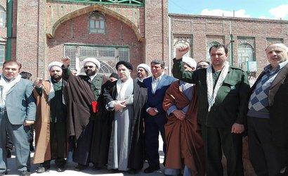 راهپیمایی مردم آذرشهر در حمایت از سپاه پاسداران