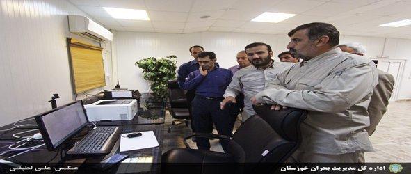 بازدید سرزده مدیرکل مدیریت بحران خوزستان از مرکز مدیریت بحران شرکت نفت و گاز اروندان