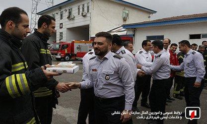 اعزام جمعی از آتش نشانان به مناطق سیل زده کشور/آتش نشانی رشت