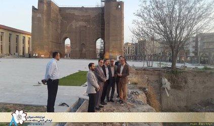 محوطه ارک تبریز برای بازدید گردشگران آماده می شود