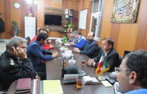 برگزاری جلسه مدیریت بحران در خصوص بررسی وضعیت آب روستاهای باخرز با حضور فرماندار این شهرستان