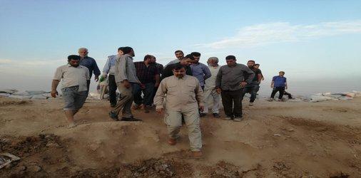بازدید مدیر کل مدیریت بحران استانداری خوزستان  از سیل بند منطقه ملاشیه