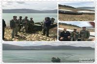 جمع آوری ۵۰۰ متر تور ماهی گیری و بلم های صیادی در سد درودزن فارس