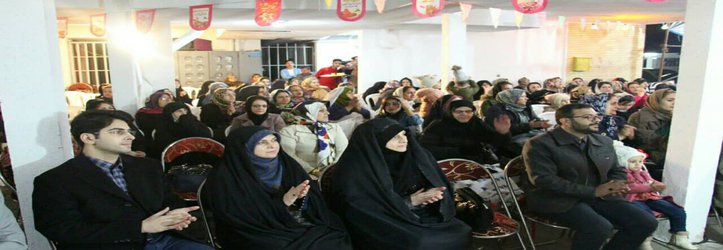 حضور فاطمه شیرزاد، سخنگوی شورای اسلامی شهر رشت در جشن نیمه شعبان شهرک نور رشت