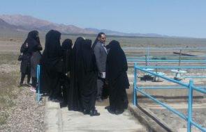 بازدید دانشجویان دانشگاه آزاد اسلامی از تصفیه خانه فاضلاب روستای کلات شهرستان گناباد