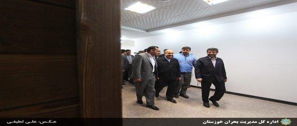 بازدید وزیر ورزش و جوانان از مرکز مانیتورینگ مدیریت بحران خوزستان