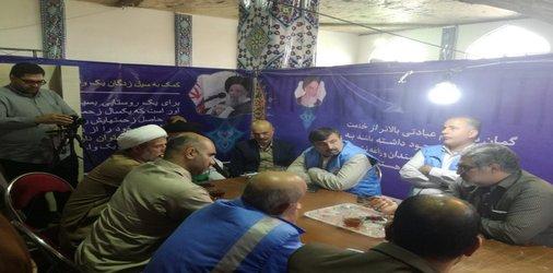 بازدید مدیر کل مدیریت بحران استان از ستاد مردمی خدمات اجتماعی و حرکتهای جهادی سیل زدگان خوزستان