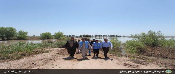 بازدید مدیرکل مدیریت بحران خوزستان از مسیر روستاهای بخش مرکزی اهواز و شوشتر