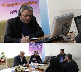 ارتباط تلفنی مستقیم مردم با مدیرعامل شرکت آب منطقه ای زنجان در محل استانداری برگزارشد.
