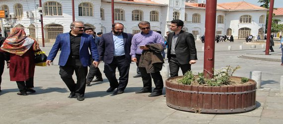 بازدید مهندس کامران راد مدیر منطقه دو شهرداری رشت از پیاده راه مرکزی