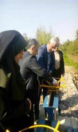 افتتاح بند انحرافی و دریچه سازی در نهر آب بر کیاجوب شهرستان سیاهکل