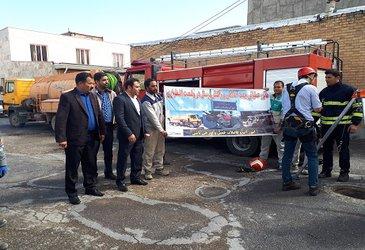 توسط امور آب وفاضلاب شهرستان خمین برگزاری مانور مدیریت بحران در شرایط اضطراری وامداد ونجات در بخش فاضلاب