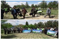 برگزاری همایش بزرگ پاکسازی طبیعت به مناسبت زمین پاک در سرایان