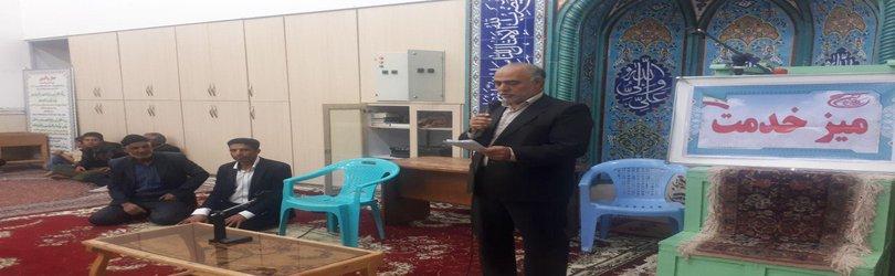 شهردار زرند در میز خدمت مسجد فاطمیه اکبر آباد:در مواردی که در انجام وظیفه کوتاهی کرده ایم از عذر خواهی هیچ اِبایی نداریم!